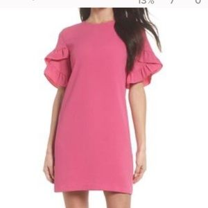 Charles Henry Pink Ruffles Sleeve Dress size- Med